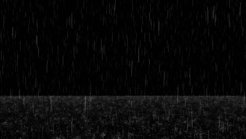 Falling Rain with Splashes & Foam on Ground Loop Overlay | Shutterstock HD Video #1027987565