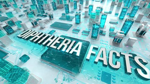 Diphtheria Facts with medical digital technology concept