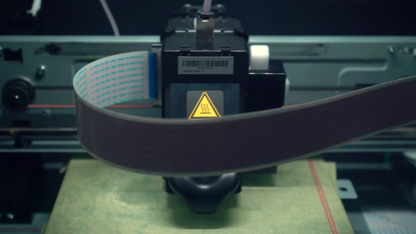 3D printer. Layer-by-layer creation of a solid object. Growing object. Material freezing during cooling. Polymeric materials. Plastic. | Shutterstock HD Video #1028015045