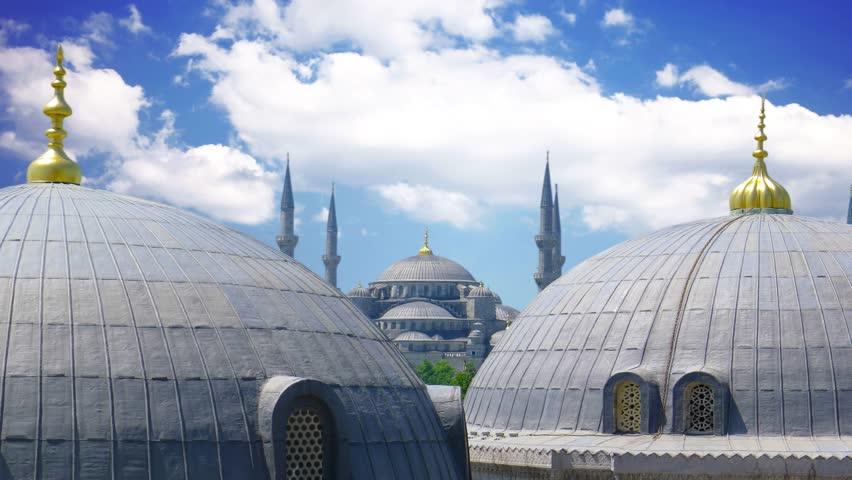 Famous Blue Mosque in Istanbul, Turkey. | Shutterstock HD Video #1028043815