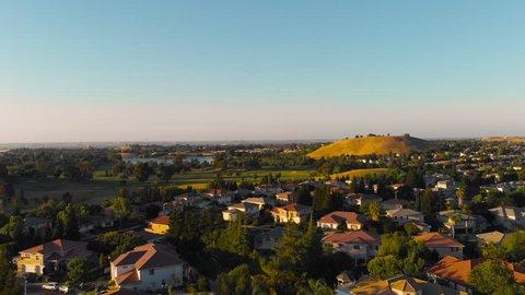Flying over Antioch during golden hour