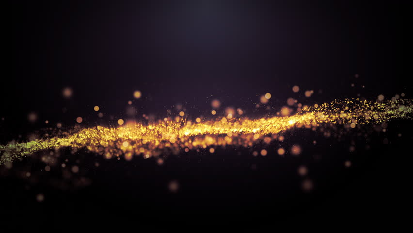 4k Abstract rendered Loop Particles gold glitter on black background.   Shutterstock HD Video #1028122745
