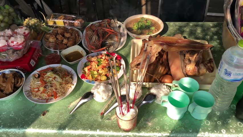 Food Offerings On Chinese New Stock Footage Video (100% Royalty-free)  1028131085 | Shutterstock