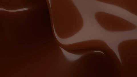 Liquid Chocolate background. Melted dark Chocolate. Wave brown animation. Chocolate. seamless looping animation