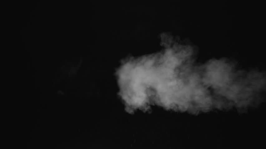 White water vapour on a black background. Close-up shot 4k | Shutterstock HD Video #1028265365