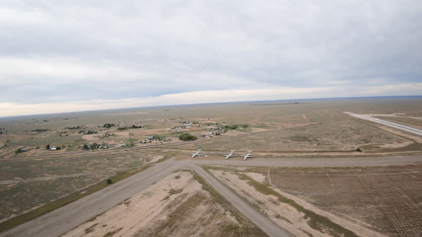 Takeoff Departing Roswell New Mexico in Helicopter Above Airport