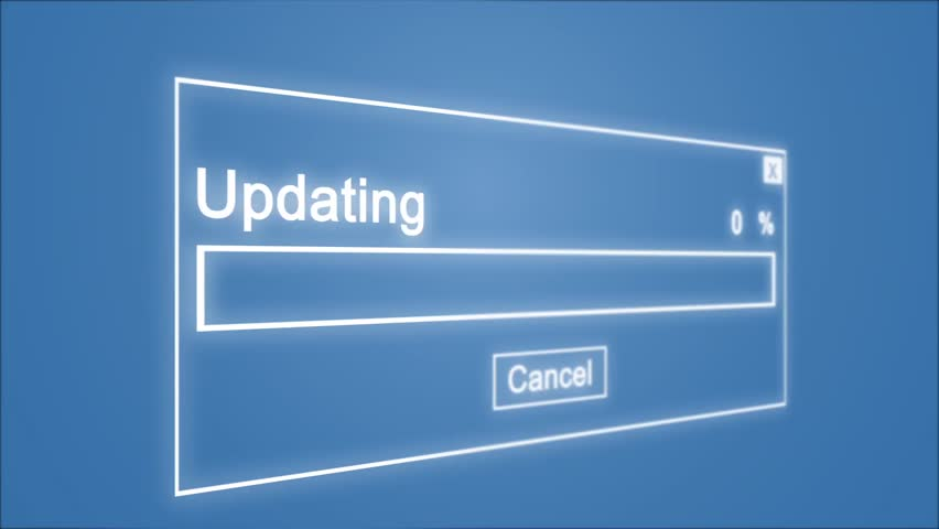 Updating Process Animation on Blue Background | Shutterstock HD Video #1028308505
