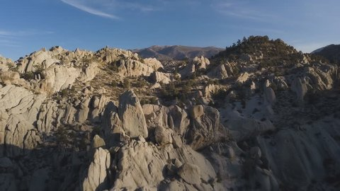 Landscape of the Alabama Hills Eastern Sierra Nevada Mountains