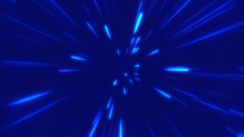 Multiple rays in the blue background. These give a speed sensation due to the background beam generator.