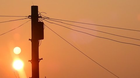 1000 Telephone Poles Sunrise Stock Video Clips And Footage Royalty