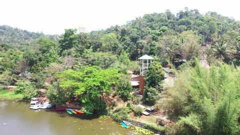 Zip-Lining in Wayanad, Kerala in Southern India.