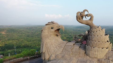 Jatayu Earth Center in Kerala, India. This is the world's biggest bird sculpture.