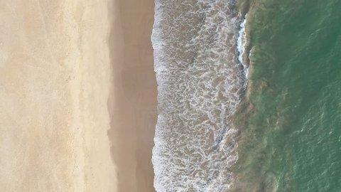 Muzhappilangad Beach in Kerala, India seen from above