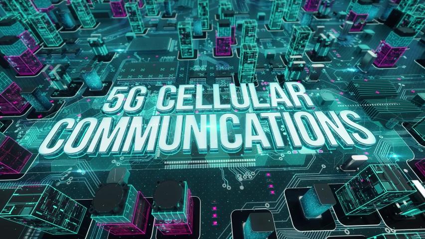 5G Cellular Communications digital technology concept | Shutterstock HD Video #1029625505