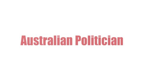 Australian Politician Wordcloud Animated Isolated