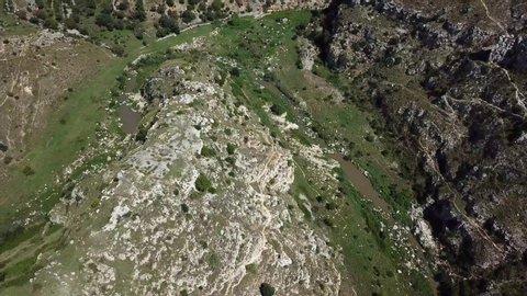 drone shot of a countryside in Basilicata