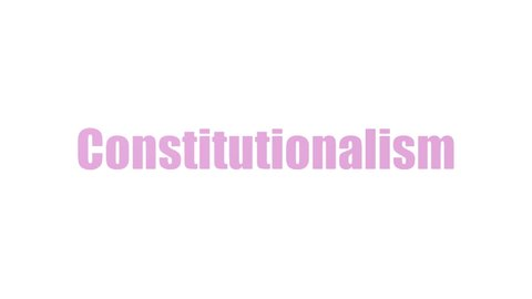 Constitutionalism Tag Cloud Animated Isolated On White