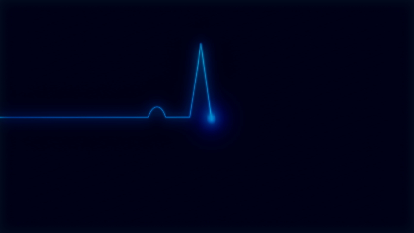 Ecg cardiogram monitor with pulsing blue line to determine your health at 60fps | Shutterstock HD Video #1029926555