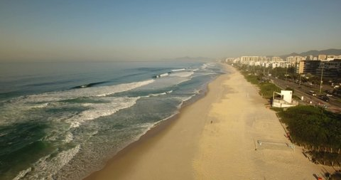 Bird's view of Barra da Tijuca Beach, Rio de Janeiro - Brazil.