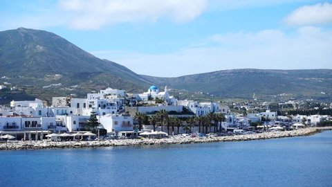 Video of picturesque port of Paroikia, Paros island, Cyclades, Greece
