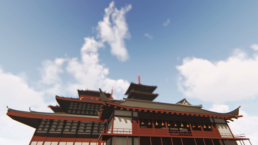 Japan Architecture 3d video animation | Shutterstock HD Video #1029991295