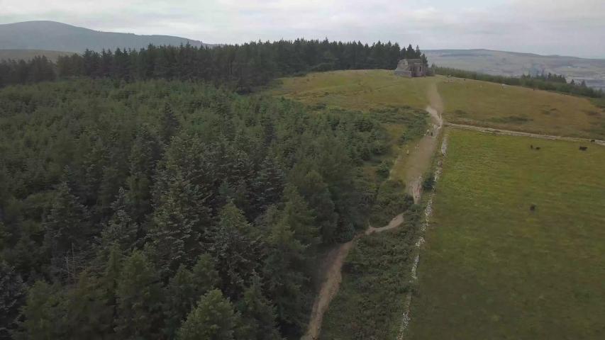 Drone Video Dublin Mountains in Ireland   Shutterstock HD Video #1030327325