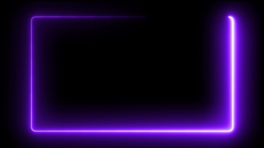Neon Frame animation on black background | Shutterstock HD Video #1030373105