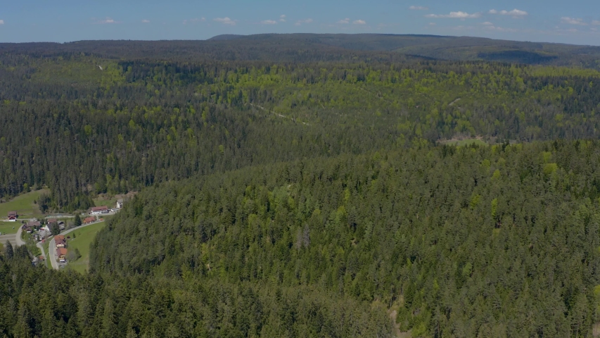 Wide view with pan to the left in the Black Forest   Shutterstock HD Video #1030462355