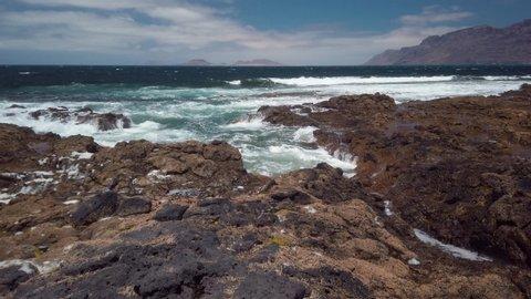 Lanzarote Coast Line Famara Waves