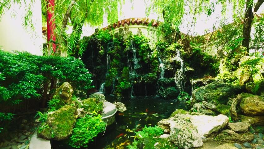 Sunshine mountain stream Nature reflection   Shutterstock HD Video #1030718735
