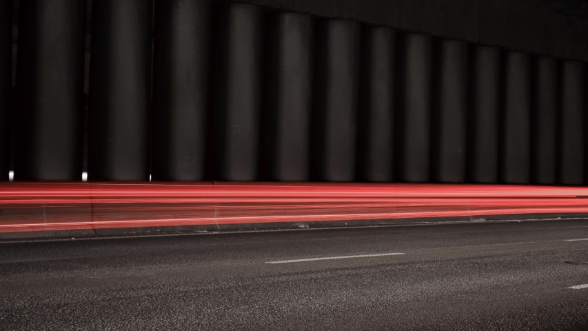 Super fast car lights in minimal style. Motion time lapse colorful urban background texture. Modern cityscape road traffic. Night traffic in tunel. | Shutterstock HD Video #1031370635