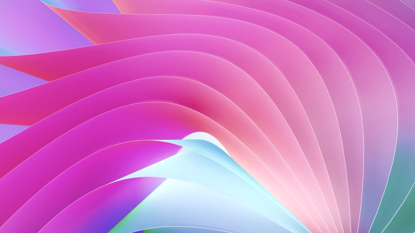 4k 3D animation of colorful wave stripes rows colored seamless loop. Beautiful abstract background animation seamless loop | Shutterstock HD Video #1031372405