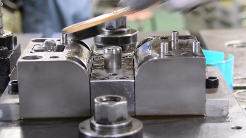 Progressive Die Stamping Stock Video Footage - 4K and HD