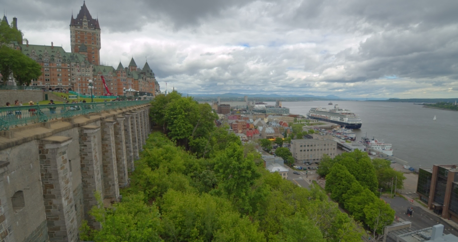 Quebec Old city panorama footage   Shutterstock HD Video #1031563895