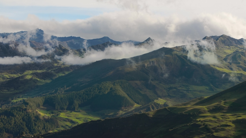 Mountain landscape timelapse moving clouds in Colombia, Sierra Neveda del Cocuy | Shutterstock HD Video #1031819345