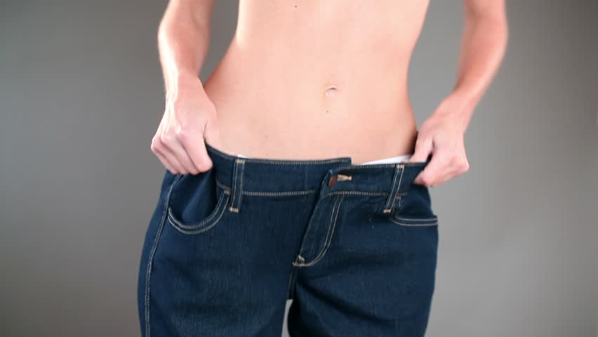Sexy Waist In Big Jeans Stock Footage Video 1049092 | Shutterstock