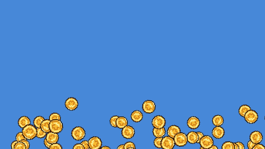 Set Of Exploding 8-Bit Videogame Coins. Ideal For Your Gaming / Money projects. High-Quality Animation, 4K,60fps | Shutterstock HD Video #1032650135