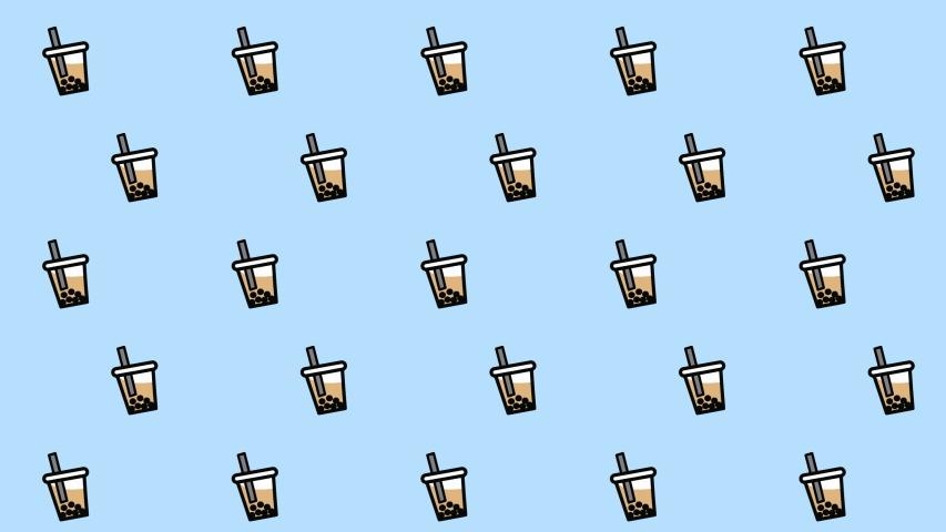 Bubble milk tea background. Bubble milk tea rotating.Animation minimal art.   Shutterstock HD Video #1033093565
