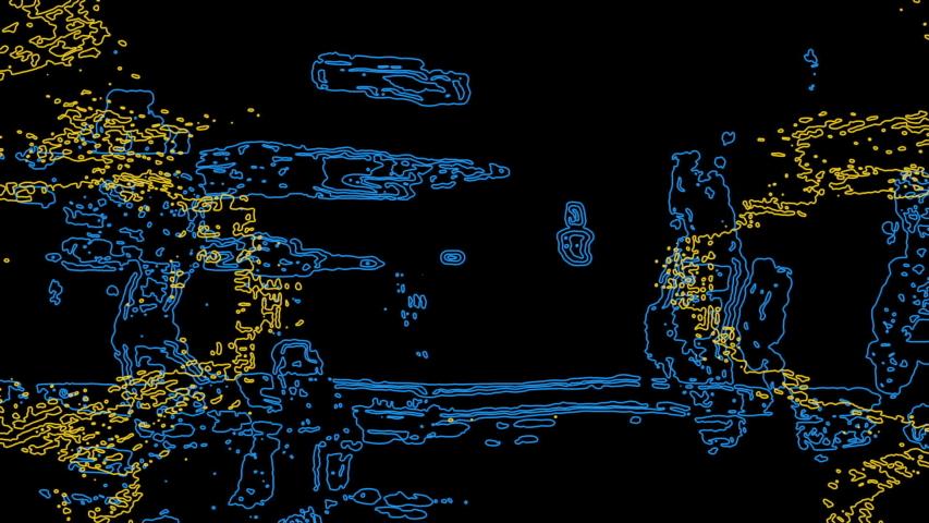 Future Tech: Futuristic linear data forms (Loop). | Shutterstock HD Video #1033120415