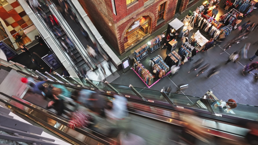 Crazy Black Friday shopping in the mall   Shutterstock HD Video #1033365545