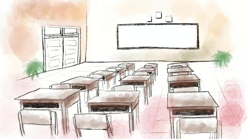 Hand Draw, Class Room Illustration | Shutterstock HD Video #1033435745