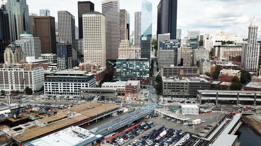 Seattle Downtown Waterfront Skyline Views