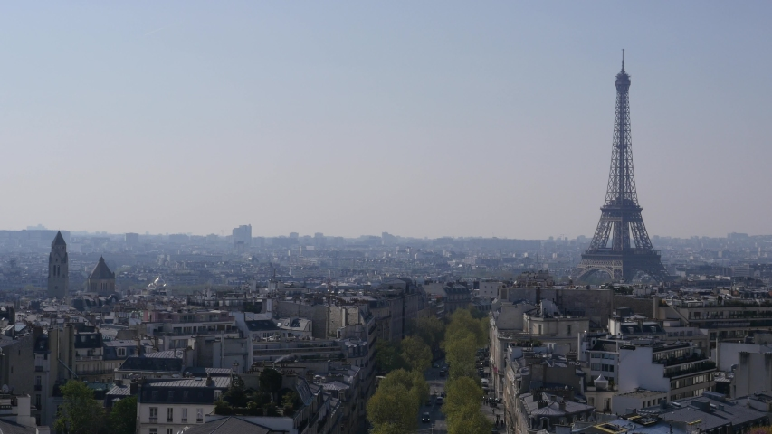 Pollution, Fog, Eiffel tower, Paris, France | Shutterstock HD Video #1033476095