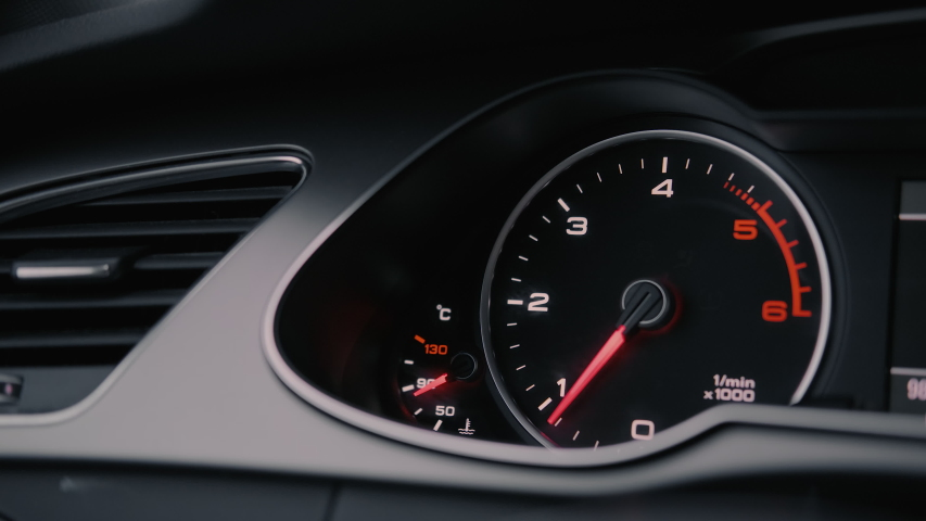 Instrument Cluster Revving RPM Gauge | Shutterstock HD Video #1033482815