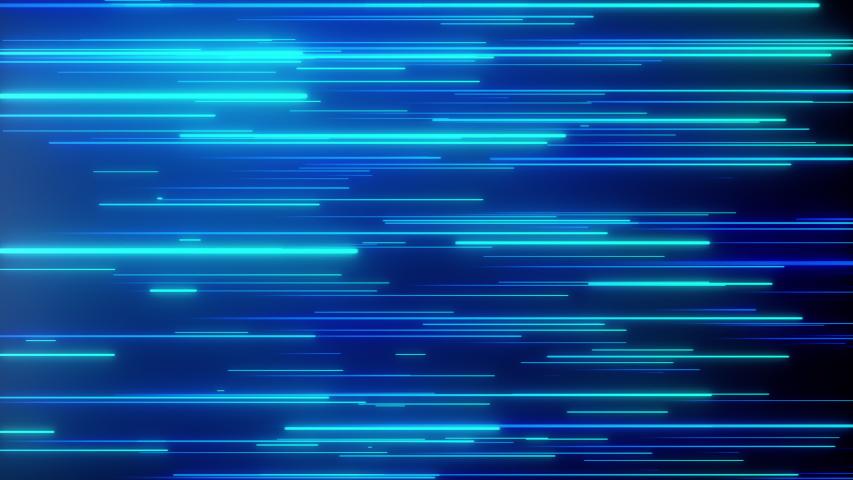 Abstract directional neon lines geometric background. Data flow. Optical fiber. Explosion star. Seamless loop 4k motion effect. Blue modern light spectrum, fluorescent ultraviolet light.