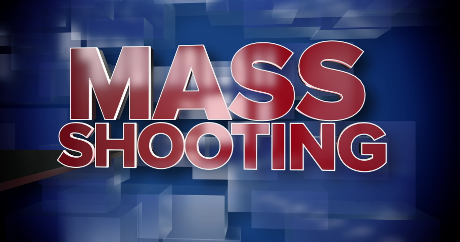 A red and blue dynamic 3D Mass Shooting news title page background animation.	 	 | Shutterstock HD Video #1034567705