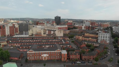 Belfast City Drone Aerial View