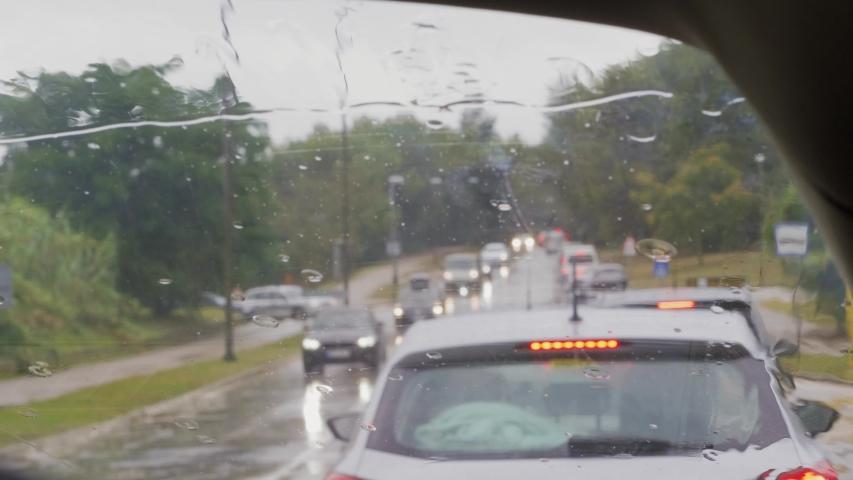 Rain on Car Window Free Stock Video Footage Download Clips Sport