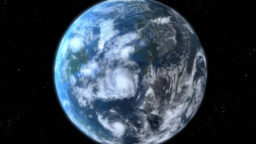 Earth Zoom, beautiful 3d animation. Also see a new version Clip ID 11594681  #1034845