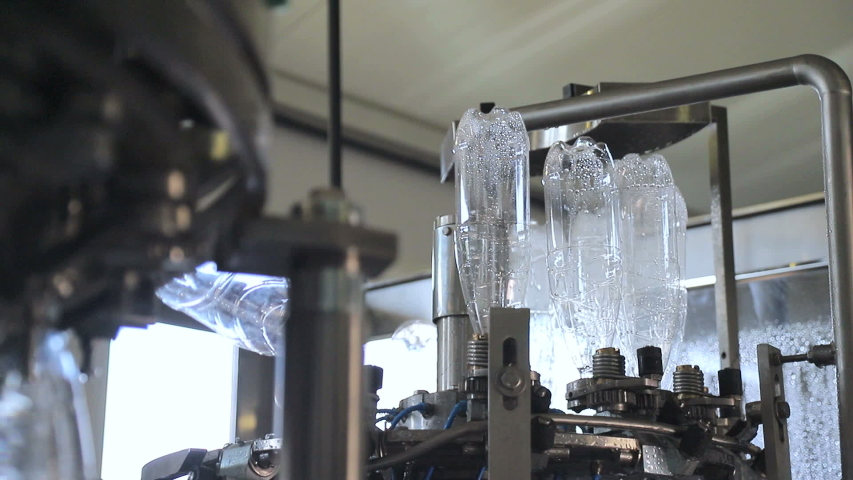 Automatic plastic can washing line | Shutterstock HD Video #1035245015